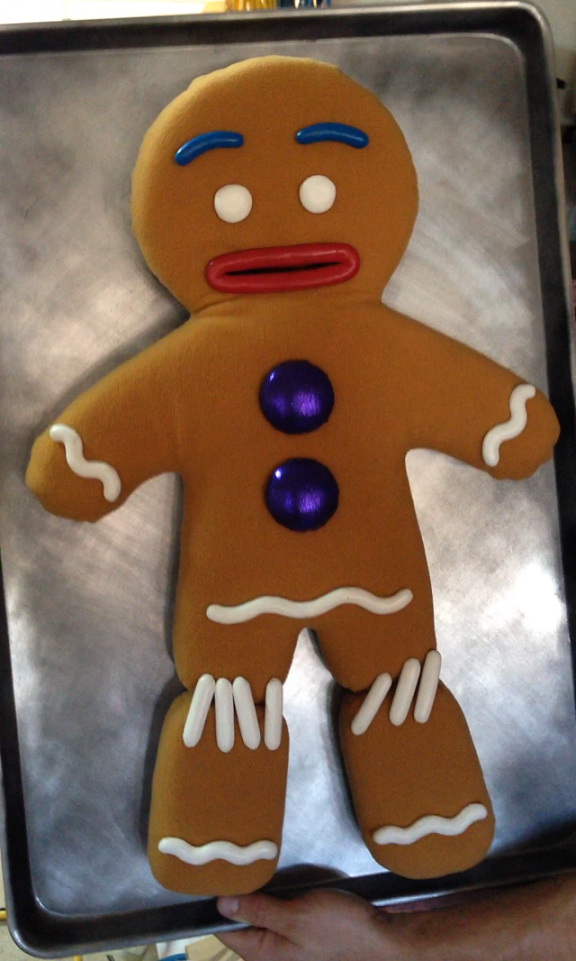 Gingy Puppet Stitched